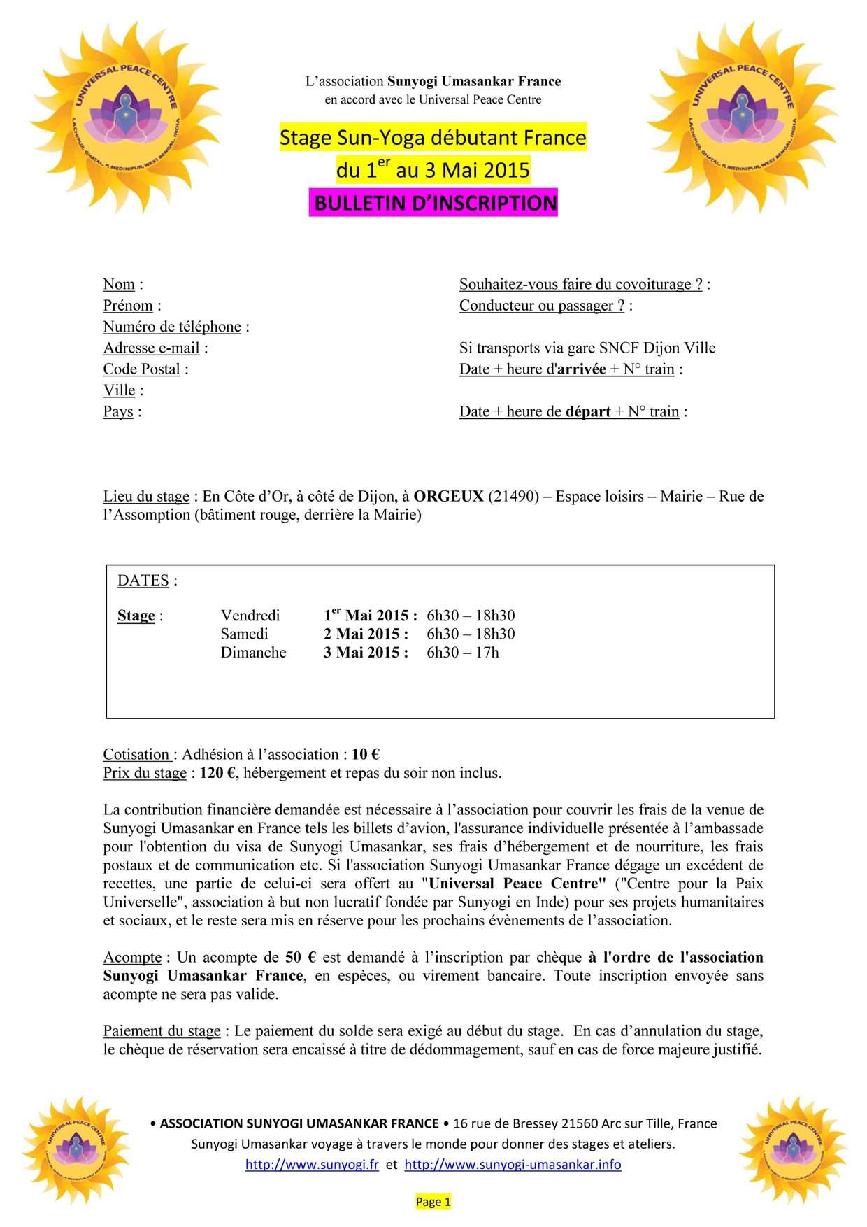 02_ SUNYOGA 1, 2, 3 mai 2015 BULLETIN INSCRIPTION a
